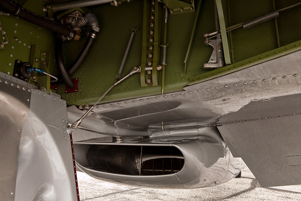 Air inlet of a P-51 Mustang<br /> 2011 Cleveland National Air Show