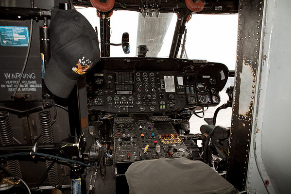 Cockpit of the MH-47 Chinook<br /> 2011 Cleveland National Air Show