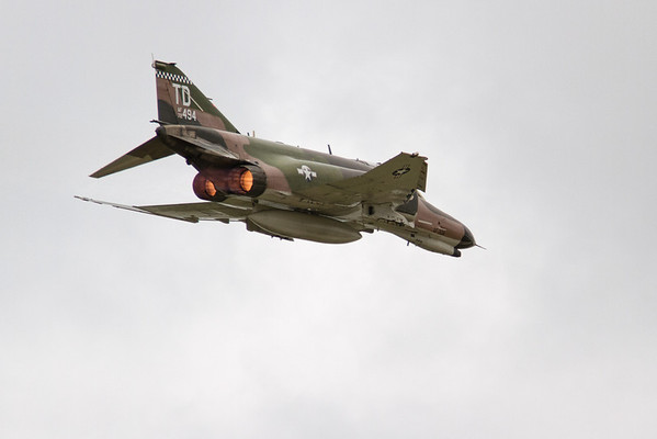 Full afterburners on a F-4 Phantom<br /> 2011 Cleveland National Air Show