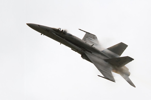 High speed fly-by of an F-18 Hornet<br /> 2011 Cleveland National Air Show