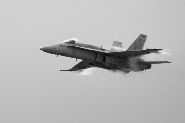 F-18 Hornet travelling about 700mph (almost supersonic)<br /> 2011 Cleveland National Air Show