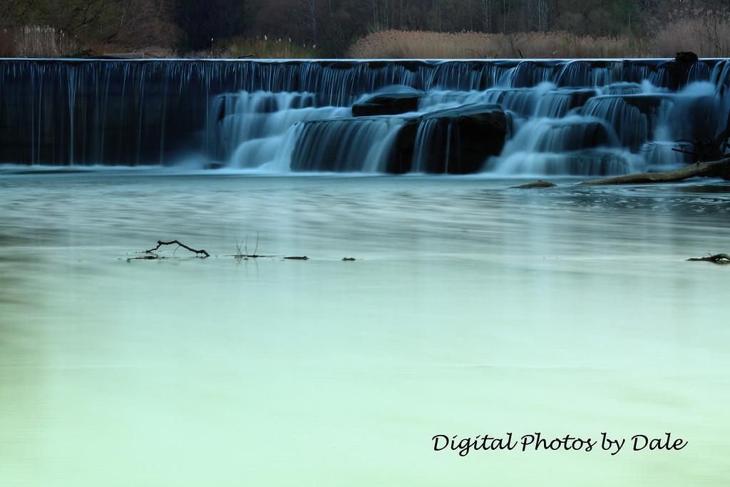 Falls across from Wallace Lake (Berea Ohio)