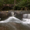 Waterfalls and an old stone bridge at Fortier Park, Olmsted Falls Ohio
