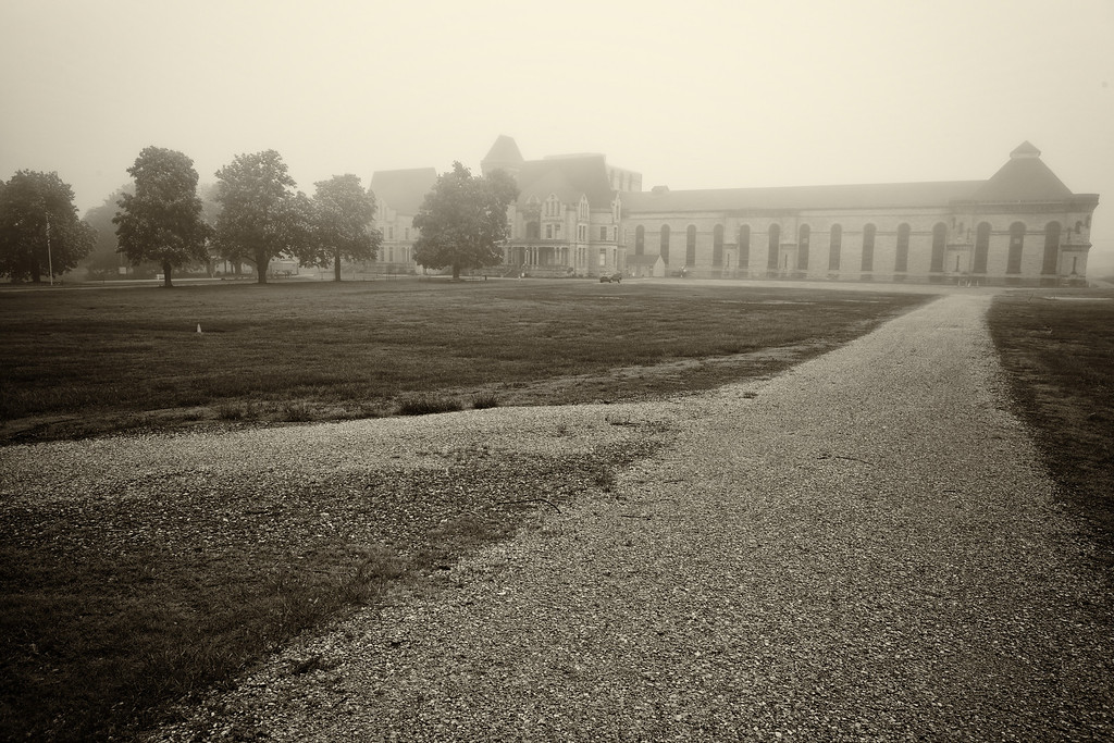 Early morning exterior shot of the Mansfield Reformatory<br /> EOS 5D Mark II_4767