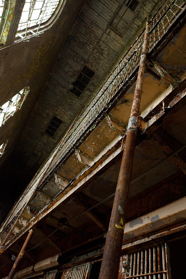 Looking up in the Eastern Cell Block<br /> Mansfield Reformatory<br /> EOS 5D Mark II_4932