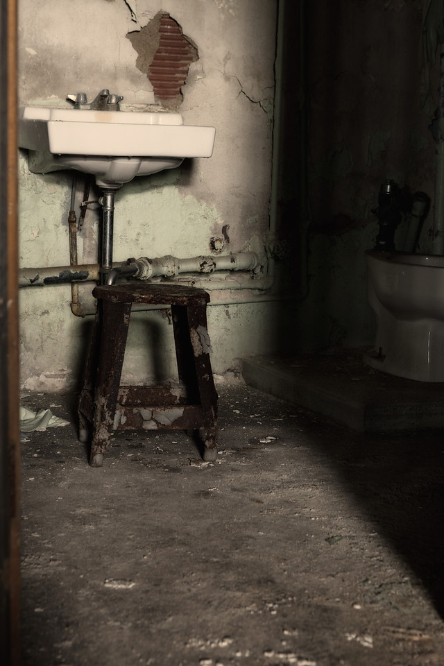"Bathroom in the Commissary ""Toilet Room""<br /> Mansfield Reformatory<br /> EOS 5D Mark II_4957"