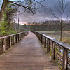 HDR Photo of the boardwalk at Beaver Marsh.  Photo taken @6:32AM, May 7th 2011.