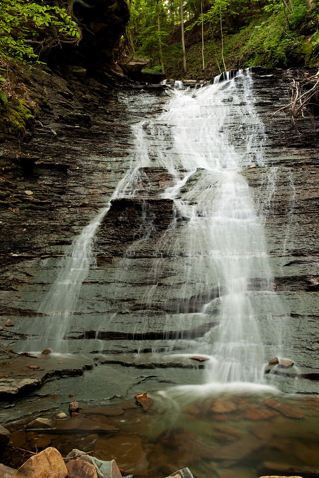 Lower Blue Hen Falls, also known as Buttermilk Falls.