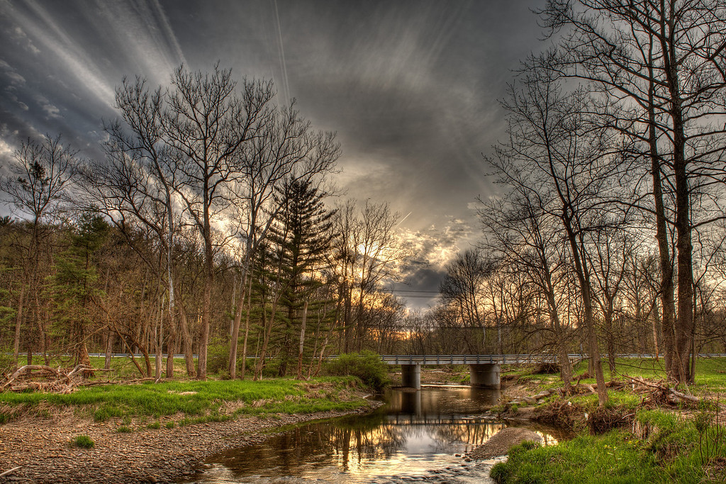 HDR Image of the Station Road Bridge - processed by Photomatix 4.0 Pro, image consisted of 5 bracketed exposures.<br /> Camera: Canon 5D Mark II<br /> Lens: 24-70 F2.8L