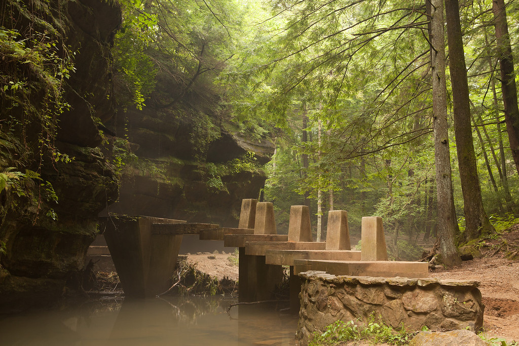 The walk to Old Man's Cave<br /> Hocking Hills State Park
