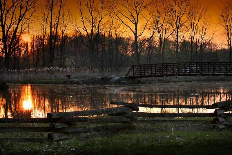 Sunset at Sandy Ridge Reservation - North Ridgeville Ohio
