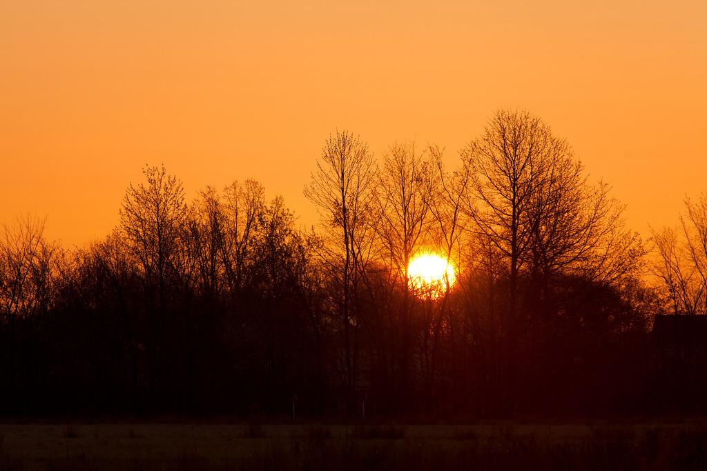 Sunrise at Sandy Ridge Reservation - in North Ridgeville Ohio.