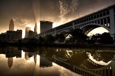 A New Beginning Moments after sunrise, Cleveland Ohio