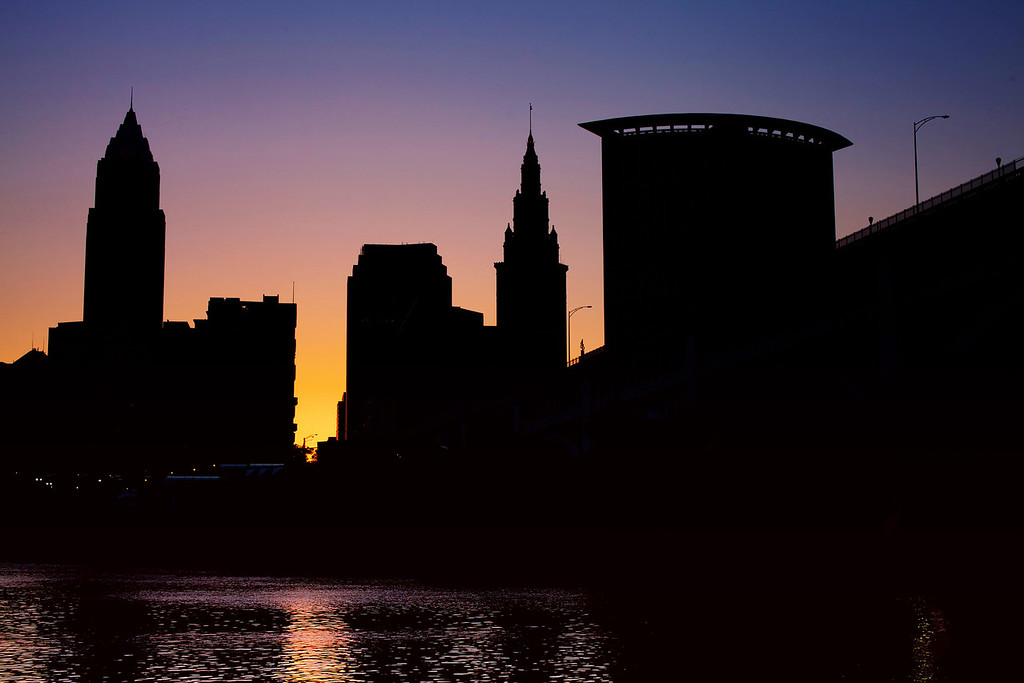 I took this shot on my way to work - just before sunrise.  Cleveland Ohio.