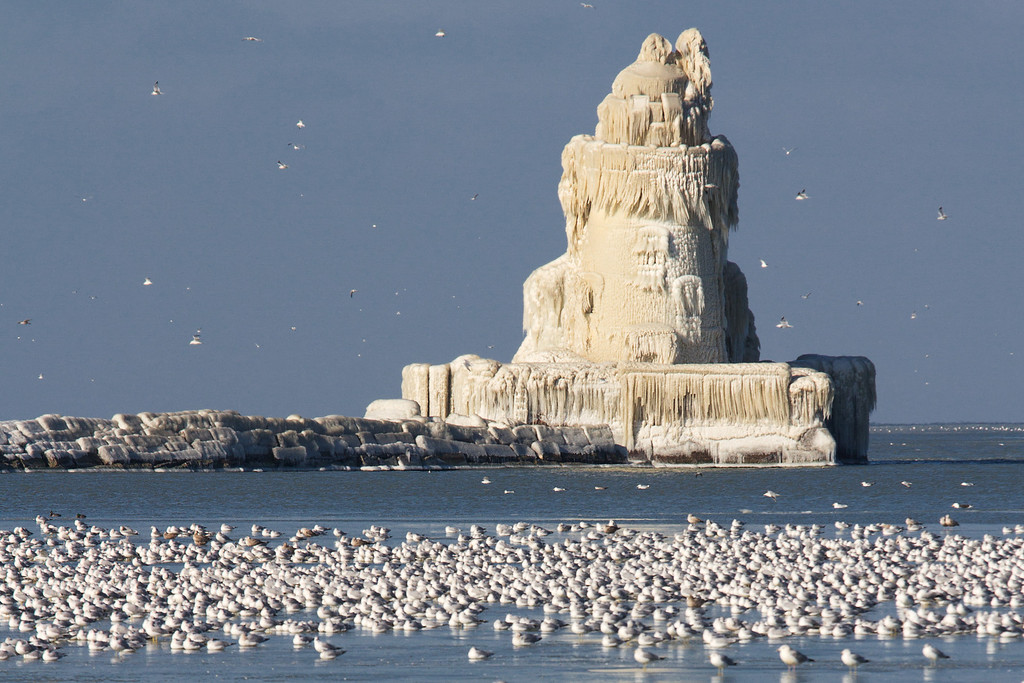 The Cleveland Harbor West Pierhead Lighthouse turned Icehouse.