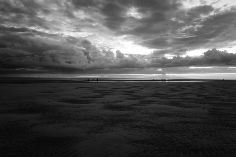 Dark Clouds On The Horizon At Crosby Beach
