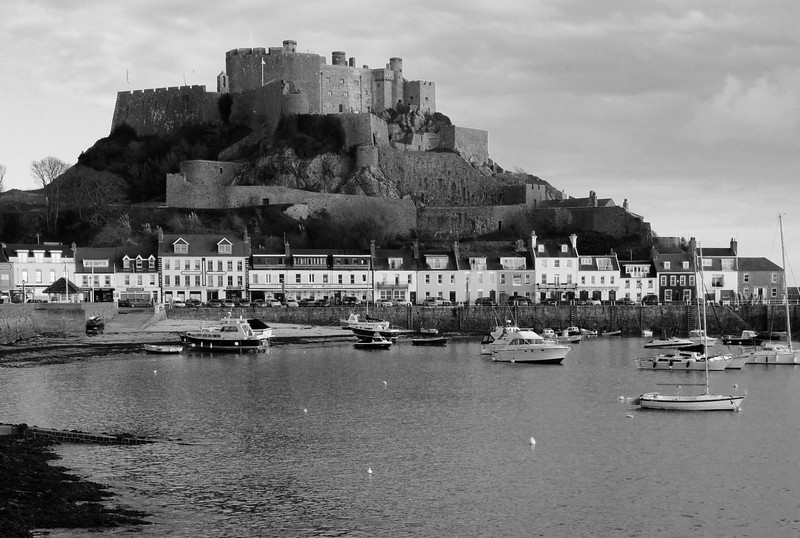 Gorey Castle And The Port Of Gorey