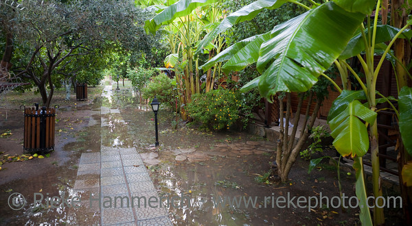 Tourist Resort after heavy Rainfall - Cirali, Turkey, Asia