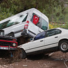 Crashed Cars after Flood Disaster - Olympos, Turkey, Asia