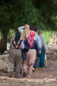 Turkish People walking - Flood Disaster in Olympos, Turkey, Asia