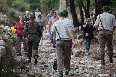 People in a Hurry - After Flood Disaster in Olympos, Turkey, Asia
