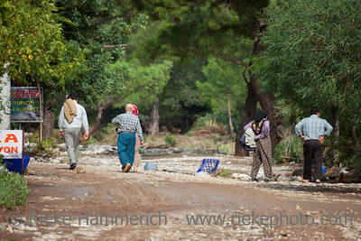 Despaired People after Flood Disaster - Olympos, Turkey, Asia