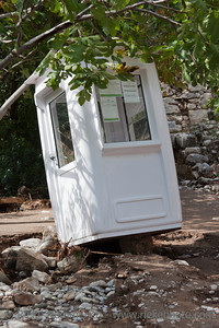 Damaged Ticket Booth - Flood Disaster in Olympos, Turkey, Asia