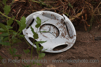 Broken Hubcap in Mud - After Flood Disaster in Olympos, Turkey, Asia