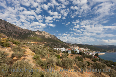 Panorama of Turkish Riviera and village Kas - Kas, Antalya Province, Turkey, Asia
