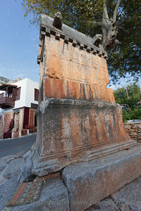 2400 years old lycian tomb in Kas - Kas, Antalya Province, Turkey, Asia