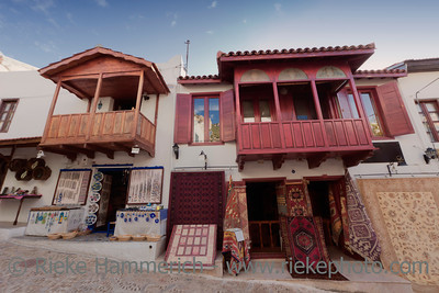 Traditional stores with carpets and jewelry in Kas, Turkey - Kas, Antalya Province, Turkey, Asia