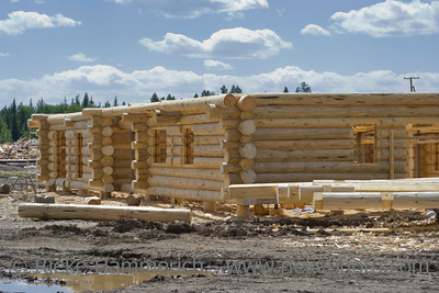 New home construction site - British Columbia, Canada