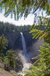 Helmcken Falls - Waterfall in Wells Gray Provincial Park, British Columbia, Canada - Height 141m, the fourth highest waterfall in Canada
