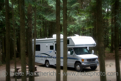 motorhome on a campground - manning provincial park, canada - adobe RGB