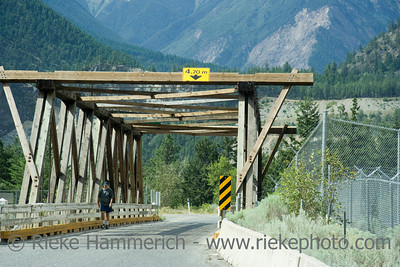 Wooden Bridge with lonely man – South Cariboo, British Columbia, Canada