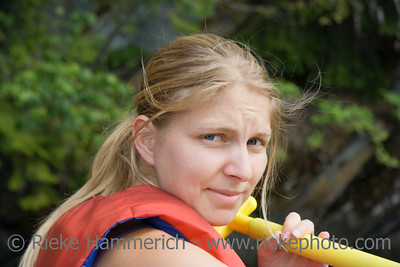 Portrait of a young woman outdoors - closeup