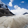 global warming and melting glaciers in the rockies - columbia icefield, jasper national park, canada - adobe RGB