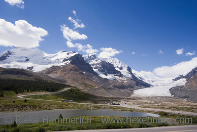 view from icefields parkway to the columbia icefield - jasper national park, canada - adobe RGB