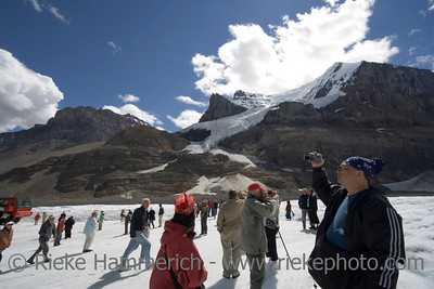 mass tourism in the rockies - columbia icefield, jasper national park, canada - adobe RGB