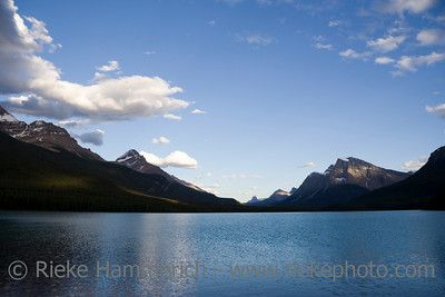 waterfowl lake in the canadian rockies - banff national park, canada - adobe RGB