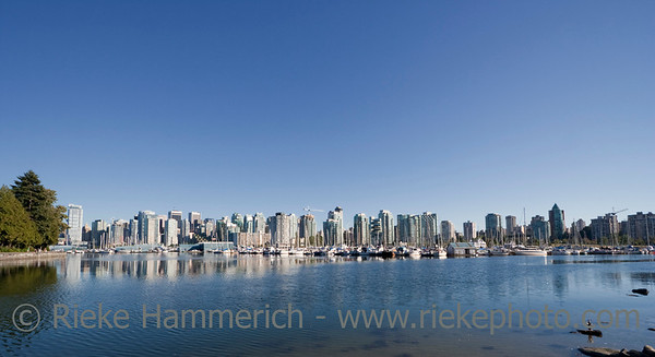 Downtown Vancouver BC seen from Stanley Park