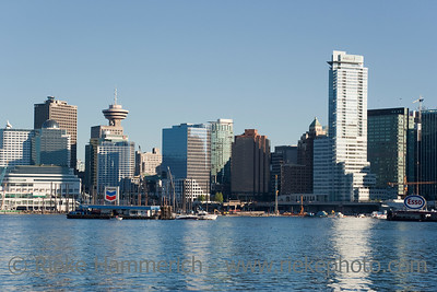 Cityscape with Vancouver Lookout at Harbour Centre
