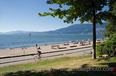 Beach and Promenade in Vancouver