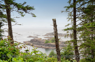 Rocky Coastline on the Pacific Ocean - Long Beach, Pacific Rim National Park, Vancouver Island, British Columbia, Canada