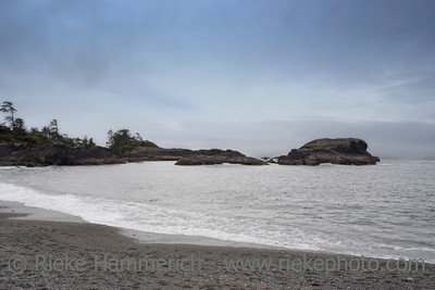 Long Beach with Cliffs - Pacific Rim National Park, Vancouver Island, British Columbia, Canada