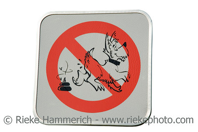 prohibition sign for dog droppings - clean up your dog's droppings - adobe RGB