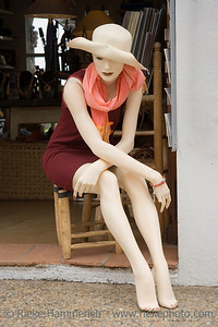 mannequin on a chair - ramatuelle, french riviera - adobe RGB