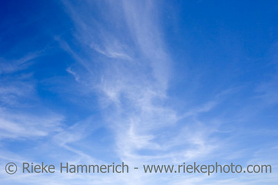 blue sky with cirrus clouds - spring in southern europe - adobe RGB