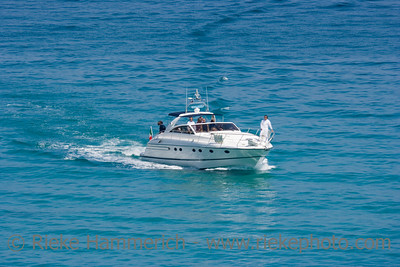 speedboat in action - saint-tropez, french riviera, mediterranean sea  - adobe RGB