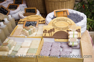 famous perfumed soap from marseille - on a french market - adobe RGB